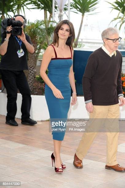 AP OUT Actress Penelope Cruz and film director Woody Allen attends a photocall for Woody Allen's Vicky Cristina Barcelona at the Cannes Film Festival...