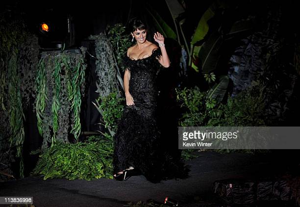 Actress Penelope Cruz arrives at premiere of Walt Disney Pictures' 'Pirates of the Caribbean On Stranger Tides' held at Disneyland on May 7 2011 in...