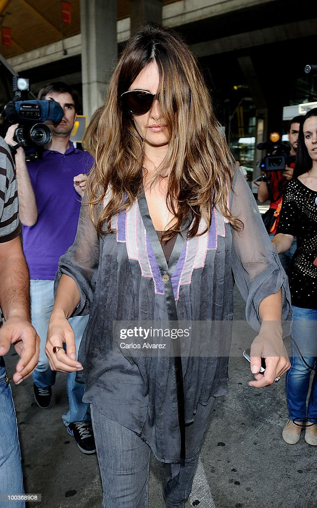 Actress Penelope Cruz arrives at the Barajas airport on May 24, 2010 in Madrid, Spain.