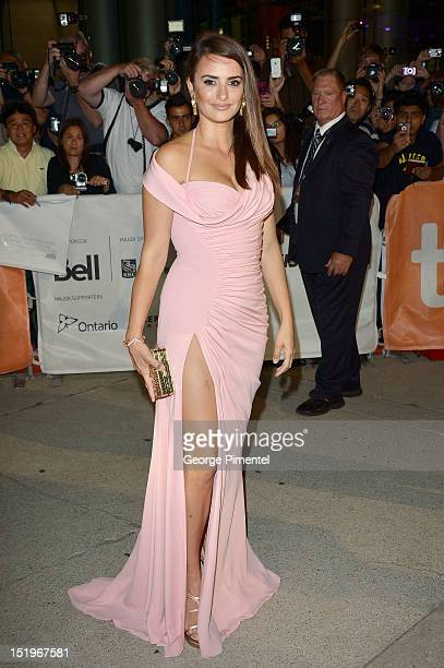 Actress Penelope Cruz arrives at the 'Twice Born' premiere during the 2012 Toronto International Film Festival on September 13 2012 in Toronto Canada