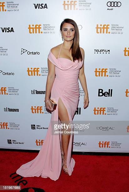 Actress Penelope Cruz arrives at the 'Twice Born' premiere during the 2012 Toronto International Film Festival at Roy Thomson Hall on September 13...