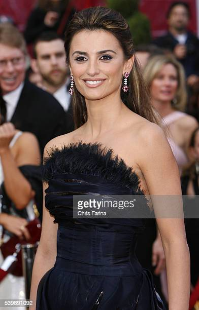 Actress Penelope Cruz arrives in a Chanel Couture gown and jewelry by Chopard at the 80th Academy Awards® held at the Kodak Theatre in Los Angeles