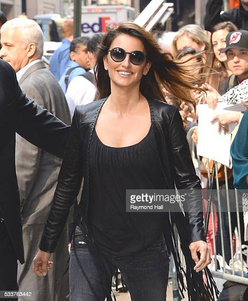 Actress Penelope Cruz arriving at 'Good Morning America' on May 23 2016 in New York City