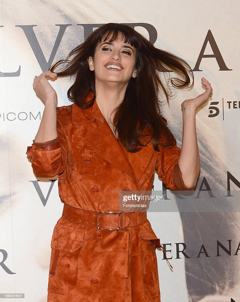 Actress Penelope Cruz attends a photocall for 'Venuto al Mondo' ('Volver A Nacer') at the Santo Mauro Hotel on January 10, 2013 in Madrid, Spain.