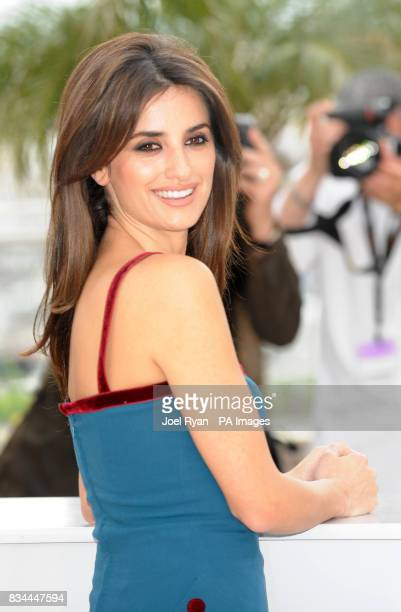 AP OUT Actress Penelope Cruz attends a photocall for Woody Allen's Vicky Cristina Barcelona at the Cannes Film Festival France