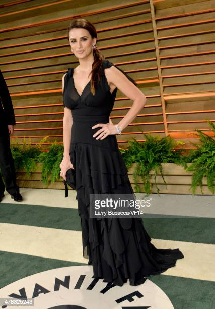 Actress Penelope Cruz attends the 2014 Vanity Fair Oscar Party Hosted By Graydon Carter on March 2 2014 in West Hollywood California
