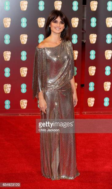 Actress Penelope Cruz attends the 70th EE British Academy Film Awards at Royal Albert Hall on February 12 2017 in London England
