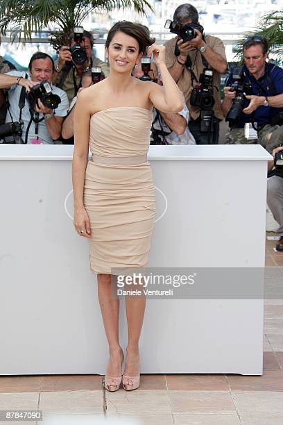 Actress Penelope Cruz attends the 'Broken Embraces' Photo Call at the Palais Des Festivals during the 62nd Annual Cannes Film Festival on May 19 2009...