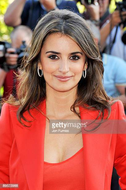 Actress Penelope Cruz attends the 'Broken Embraces' UK Film Premiere at Somerset House on July 30 2009 in London England