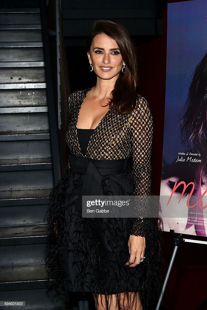 Actress Penelope Cruz attends The Cinema Society and Chopard screening of Oscilloscope's 'ma ma' at Landmark Sunshine Cinema on May 24, 2016 in New York City.