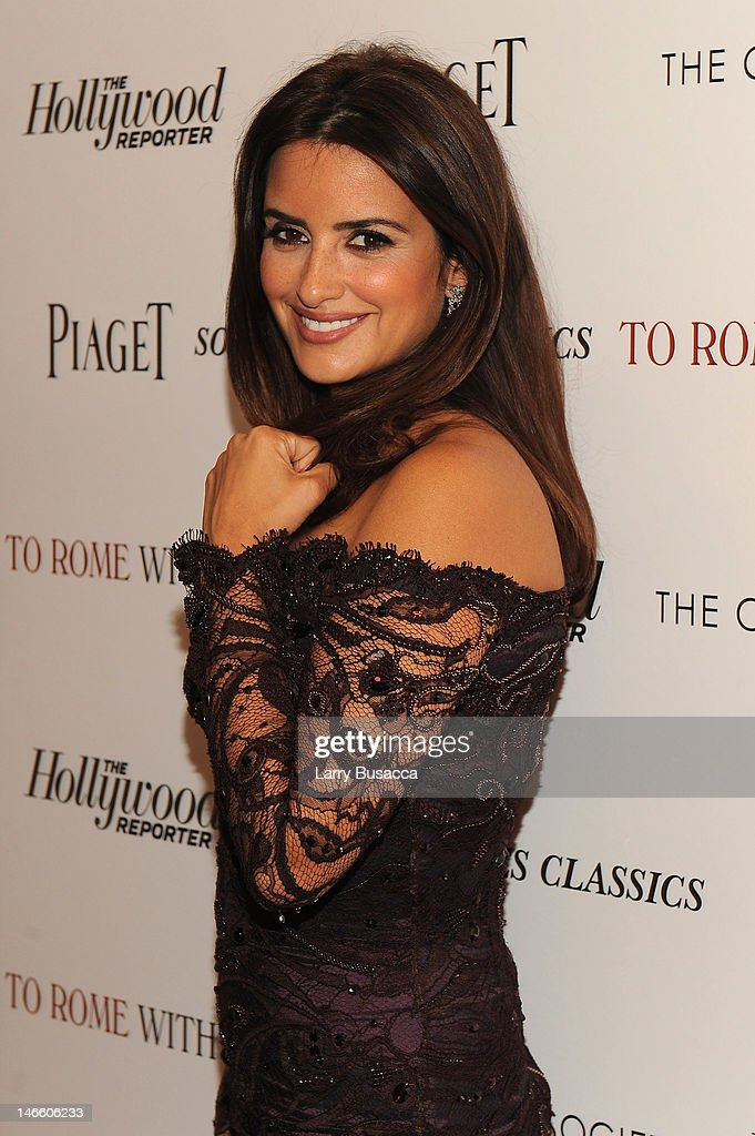 Actress Penelope Cruz attends the Cinema Society with The Hollywood Reporter & Piaget and Disaronno special screening of 'To Rome With Love' at the Paris Theatre on June 20, 2012 in New York City.