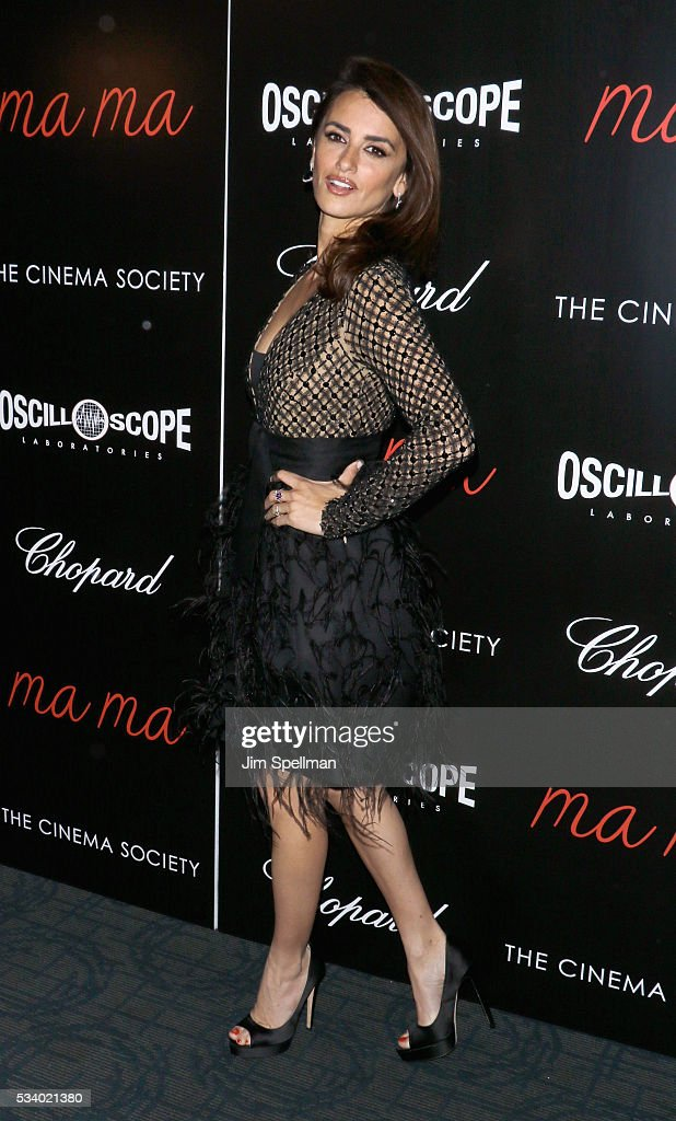 Actress Penelope Cruz attends the screening of Oscilloscope's 'ma ma' hosted by The Cinema Society and Chopard at Landmark Sunshine Cinema on May 24, 2016 in New York City.