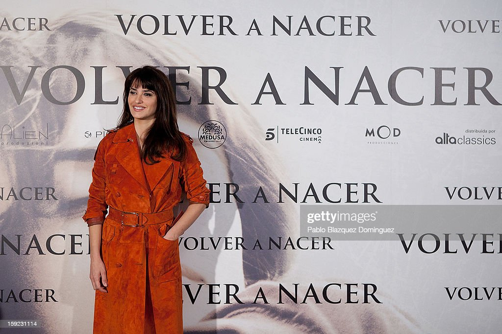 Actress Penelope Cruz attends 'Venuto Al Mondo' (Volver A Nacer) photocall at Santo Mauro Hotel on January 10, 2013 in Madrid, Spain.