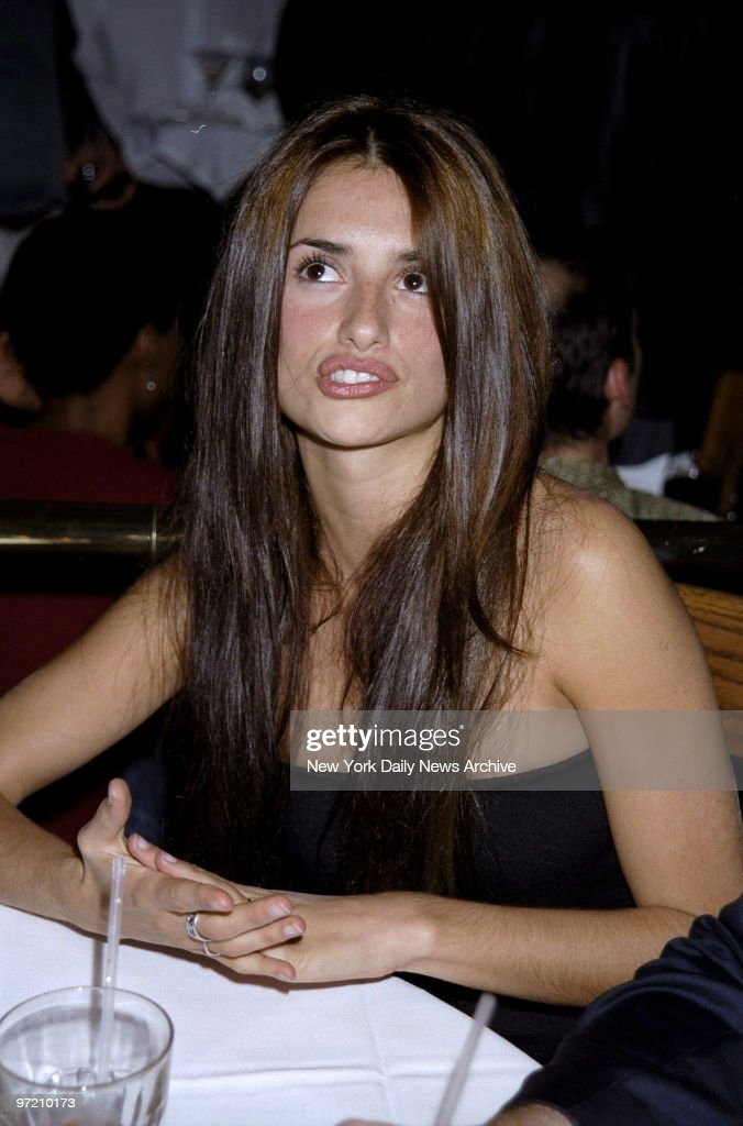 Actress Penelope Cruz is on hand at party for the movie 'Dogma' at Ernie's