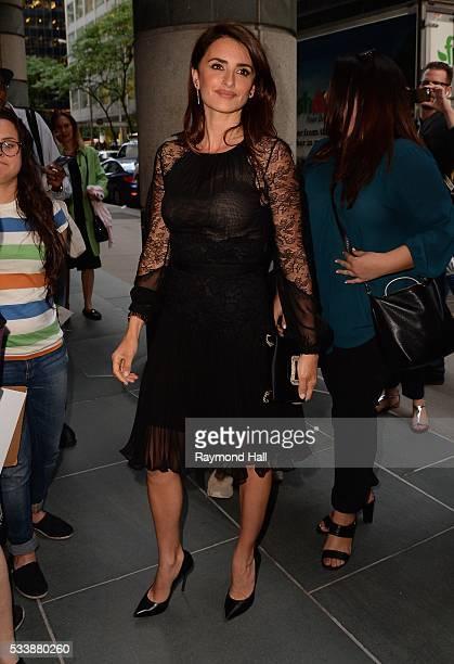 Actress Penelope Cruz is seen in 'Midtown' on May 23 2016 in New York City
