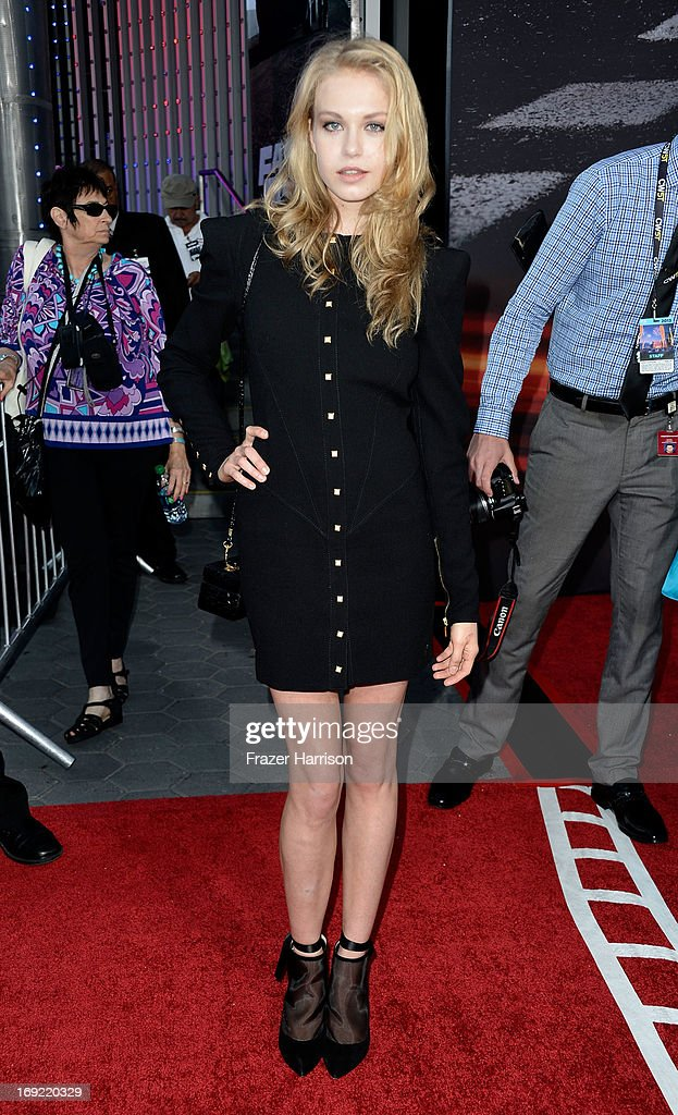Actress Penelope Mitchell arrives at the Premiere Of Universal Pictures' 'Fast & Furious 6' on May 21, 2013 in Universal City, California.