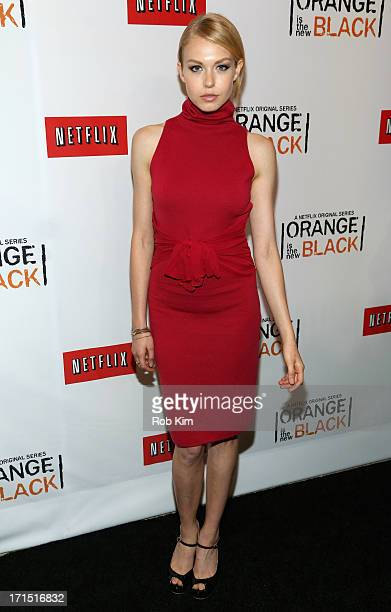 Actress Penelope Mitchell attends 'Orange Is The New Black' New York Premiere at The New York Botanical Garden on June 25 2013 in New York City