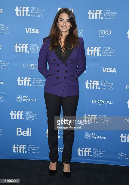 Actress Penélope Cruz attends the 'Twice Born' Photo Call during the 2012 Toronto International Film Festival at TIFF Bell Lightbox on September 13...