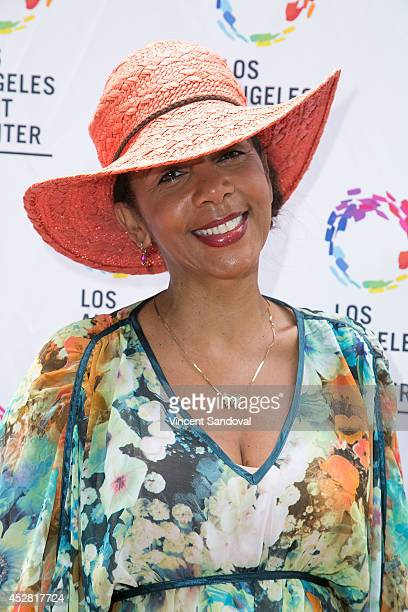 Actress Penny Johnson attends the GLEH/Los Angeles LGBT Center's Garden Party on July 27 2014 in Los Angeles California