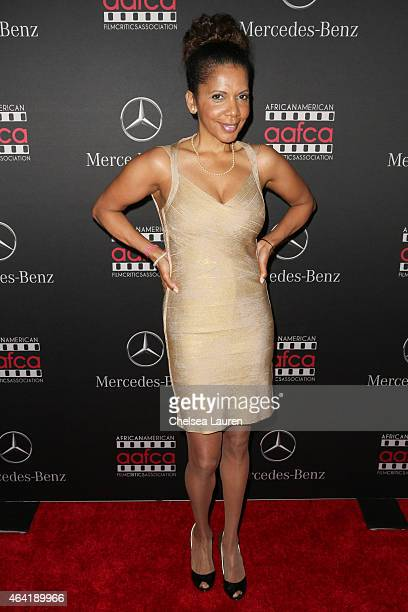 Actress Penny Johnson Jerald attends MercedesBenz USA and African American Film Critics Association Academy Awards viewing party on February 22 2015...