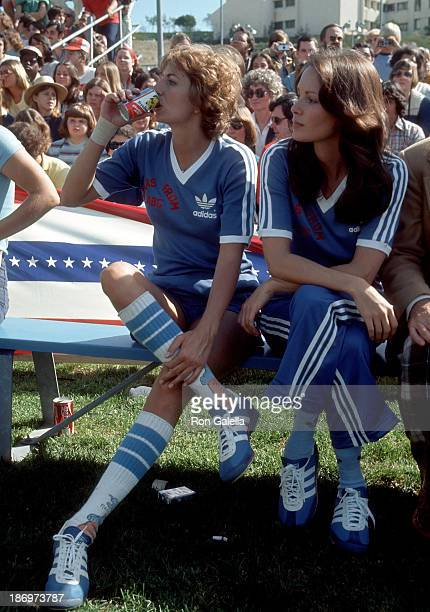 Actress Penny Marshall and actress Jaclyn Smith attend 'Battle of the Network Stars II' Television Special on February 5 1977 at Pepperdine...