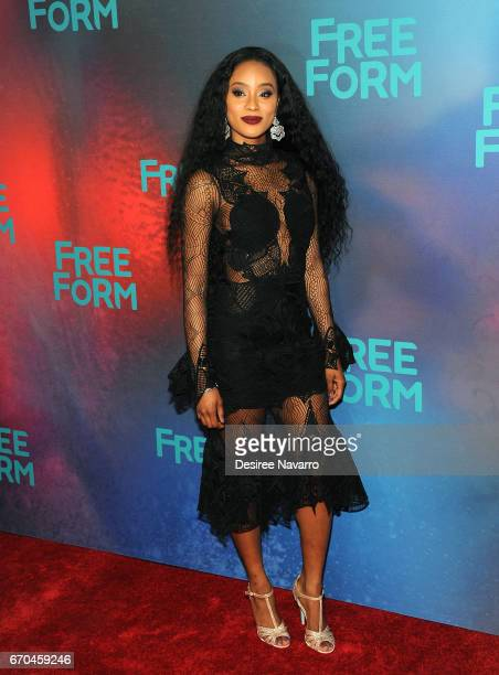 Actress Pepi Sonuga attends Freeform 2017 Upfront at Hudson Mercantile on April 19 2017 in New York City