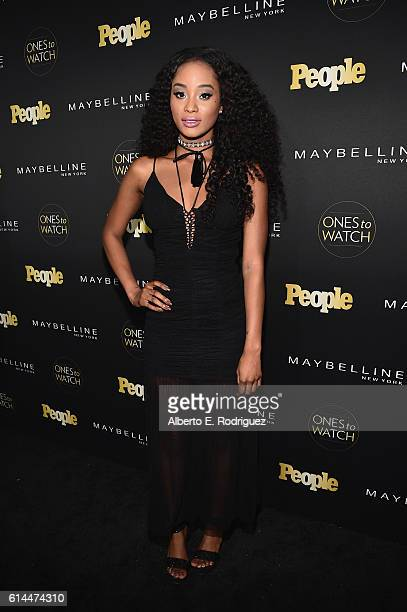 Actress Pepi Sonuga attends People's 'Ones to Watch' event presented by Maybelline New York at EP LP on October 13 2016 in Hollywood California