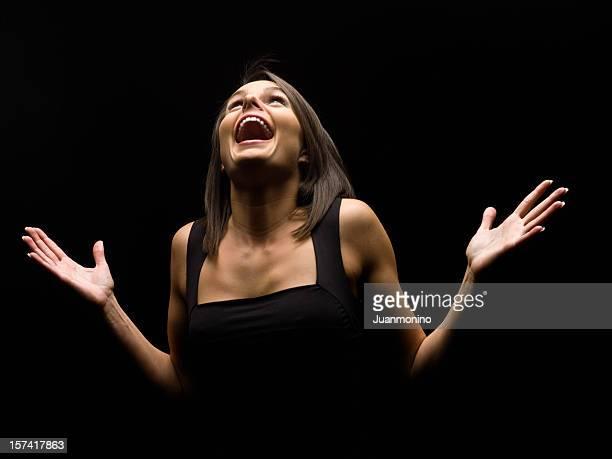 Schauspielerin performing