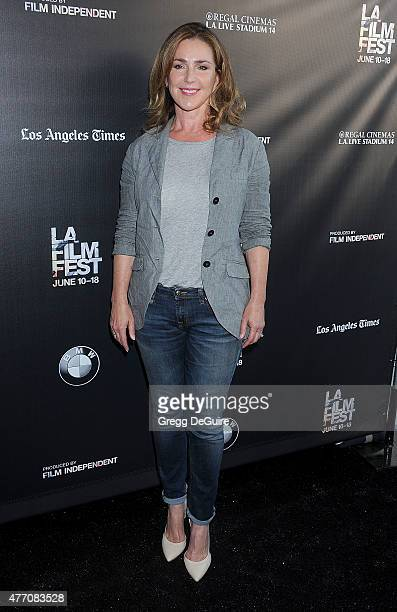 Actress Peri Gilpin arrives at the 2015 Los Angeles Film Festival screening of 'Flock Of Dudes' at Regal Cinemas LA Live on June 13 2015 in Los...
