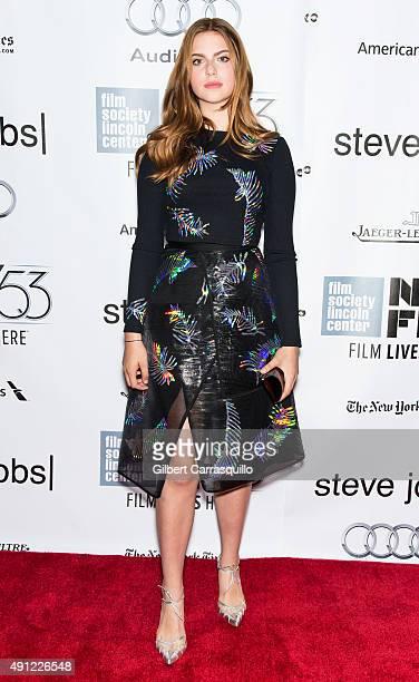 Actress Perla HaneyJardine attends the 53rd New York Film Festival 'Steve Jobs' at Alice Tully Hall Lincoln Center on October 3 2015 in New York City