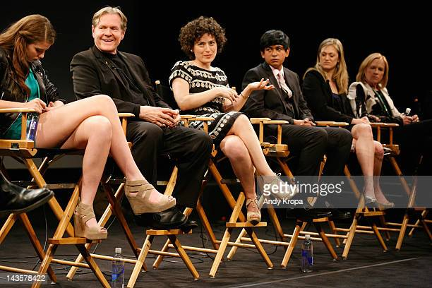 Actress Perla HaneyJardine Bill Sadler and Director Jenny Deller Anubhav Jain Marin Ireland and Amy Madigan speak onstage at Tribeca Talks After The...