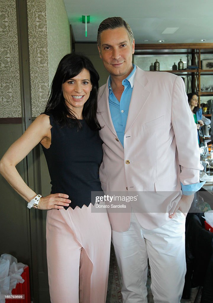 Actress Perrey Reeves (L) and TV personality and Co-Owner of Decades Cameron Silver attend the Rodial 10th Anniversary Luncheon on April 2, 2013 in West Hollywood, California.