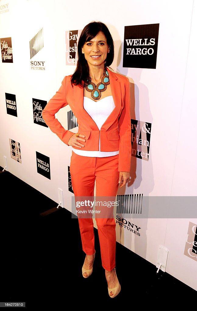Actress Perrey Reeves arrives at 'An Evening' benifiting The L.A. Gay & Lesbian Center at the Beverly Wilshire Hotel on March 21, 2013 in Beverly Hills, California.