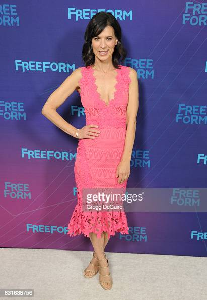 Actress Perrey Reeves arrives at the 2017 Winter TCA Tour Disney/ABC at the Langham Hotel on January 10 2017 in Pasadena California