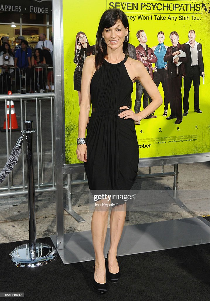 Actress Perrey Reeves arrives at the Los Angeles Premiere 'Seven Psychopaths' at Mann Bruin Theatre on October 1, 2012 in Westwood, California.