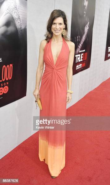 Actress Perrey Reeves arrives at the premiere of the 2nd season of HBO's 'True Blood' at the Paramount Theater on June 9 2009 in Los Angeles...