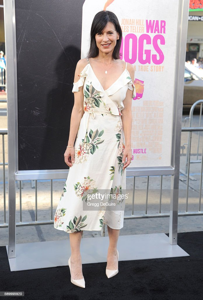 Actress Perrey Reeves arrives at the premiere of Warner Bros Pictures' 'War Dogs' at TCL Chinese Theatre on August 15 2016 in Hollywood California