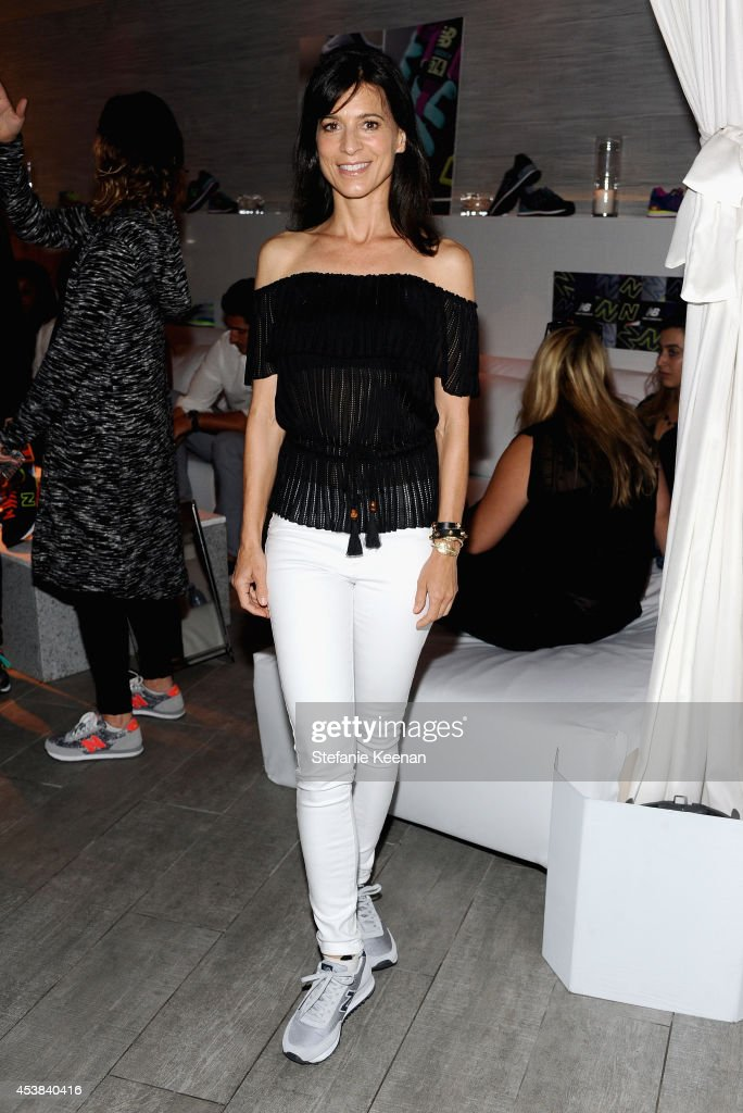 Actress <a gi-track='captionPersonalityLinkClicked' href=/galleries/search?phrase=Perrey+Reeves&family=editorial&specificpeople=537738 ng-click='$event.stopPropagation()'>Perrey Reeves</a> attends a dance party with New Balance and James Jeans powered by ISKO at the home of Pascal Mouawad on August 19, 2014 in Bel Air, California.