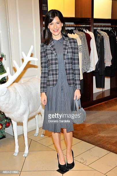Actress Perrey Reeves attends as Brooks Brothers celebrates the holidays with St Jude Children's Research Hospital and Town Country at Brooks...