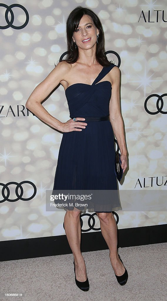 Actress <a gi-track='captionPersonalityLinkClicked' href=/galleries/search?phrase=Perrey+Reeves&family=editorial&specificpeople=537738 ng-click='$event.stopPropagation()'>Perrey Reeves</a> attends Audi and Altuzarra's Primetime Emmy Awards Week 2013 Kick-Off Party at Cecconi's Restaurant on September 15, 2013 in Los Angeles, California.