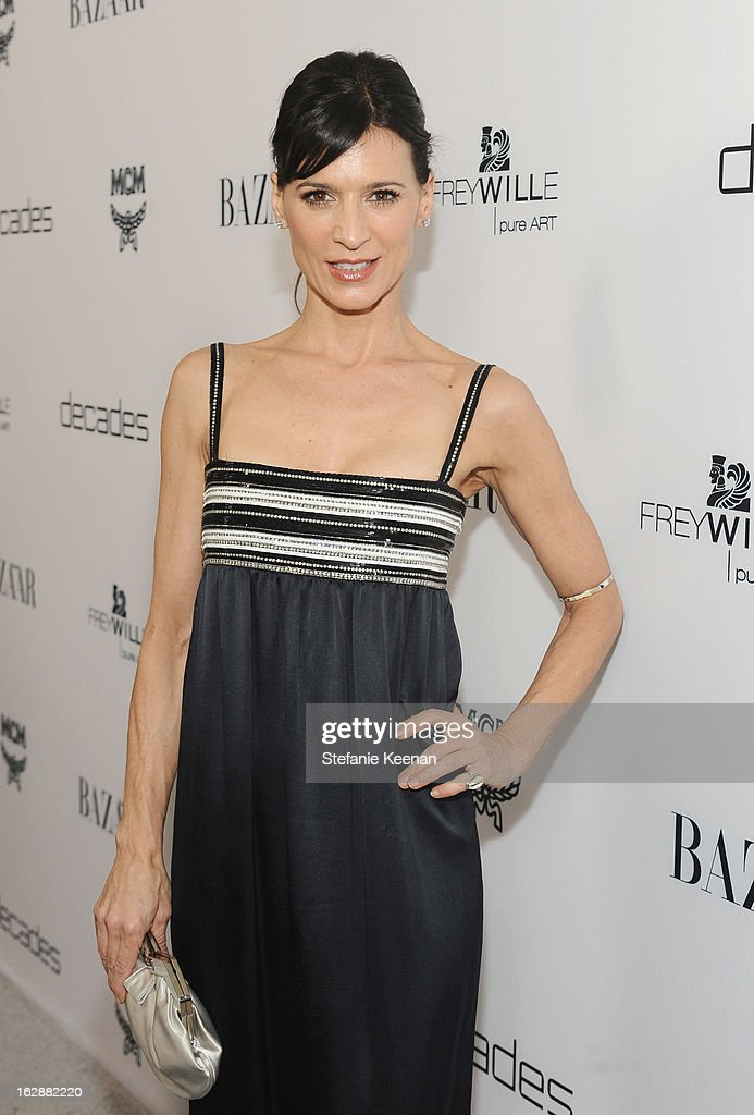Actress <a gi-track='captionPersonalityLinkClicked' href=/galleries/search?phrase=Perrey+Reeves&family=editorial&specificpeople=537738 ng-click='$event.stopPropagation()'>Perrey Reeves</a> attends the Harper's BAZAAR celebration of the launch of Bravo TV's 'The Dukes of Melrose' starring Cameron Silver and Christos Garkinos at Sunset Tower on February 28, 2013 in West Hollywood, California.
