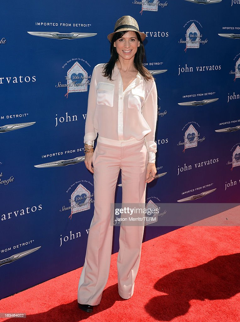 Actress Perrey Reeves attends the John Varvatos 10th Annual Stuart House Benefit presented by Chrysler, Kids Tent by Hasbro Studios, at John Varvatos Los Angeles on March 10, 2013 in Los Angeles, California.