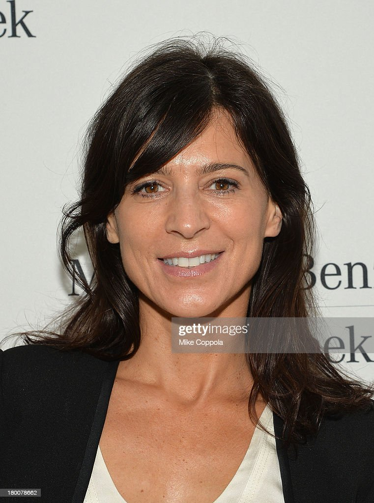 Actress <a gi-track='captionPersonalityLinkClicked' href=/galleries/search?phrase=Perrey+Reeves&family=editorial&specificpeople=537738 ng-click='$event.stopPropagation()'>Perrey Reeves</a> attends the Mercedes-Benz Star Lounge during Mercedes-Benz Fashion Week Spring 2014 on September 8, 2013 in New York City.