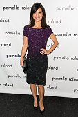 Actress Perrey Reeves attends the Pamella Roland show during Spring 2014 MercedesBenz Fashion Week at The Studio at Lincoln Center on September 9...