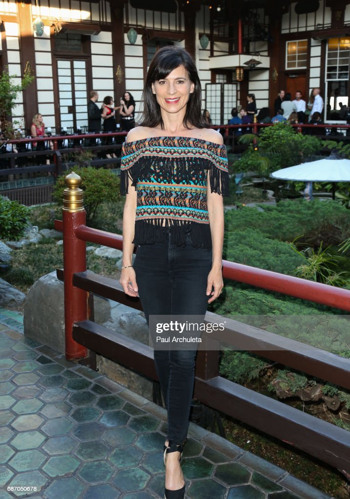 Actress Perrey Reeves attends the Wolk Morais Collection 5 Fashion Show at Yamashiro Hollywood on May 22, 2017 in Los Angeles, California.