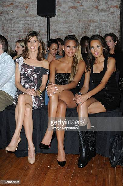 Actress Perrey Reeves Singer Cassie and Actress Keisha Whitaker attend the Nicole Miller Spring 2011 fashion show during MercedesBenz Fashion Week at...