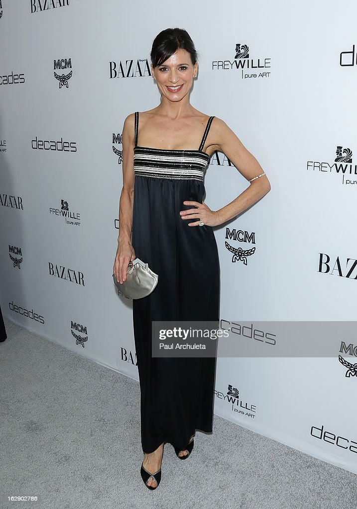 Actress Perry Reeves attends the Harper's BAZAAR celebration for the new Bravo series 'Dukes of Melrose' at The Terrace at Sunset Tower on February 28, 2013 in West Hollywood, California.