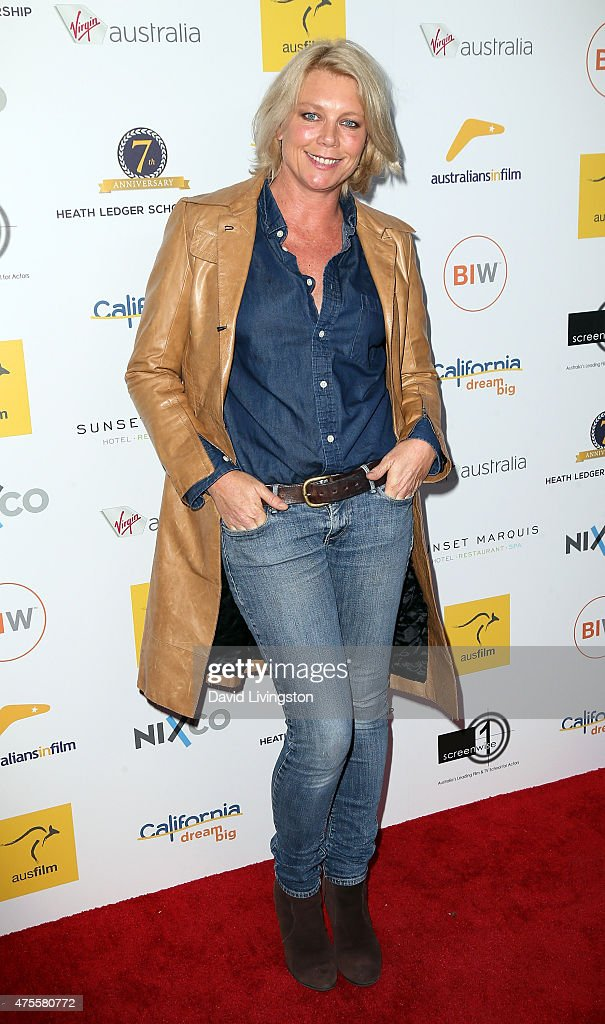 Actress Peta Wilson attends Australians In Film Heath Ledger Scholarship Announcement Dinner at Sunset Marquis Hotel & Villas on June 1, 2015 in West Hollywood, California.