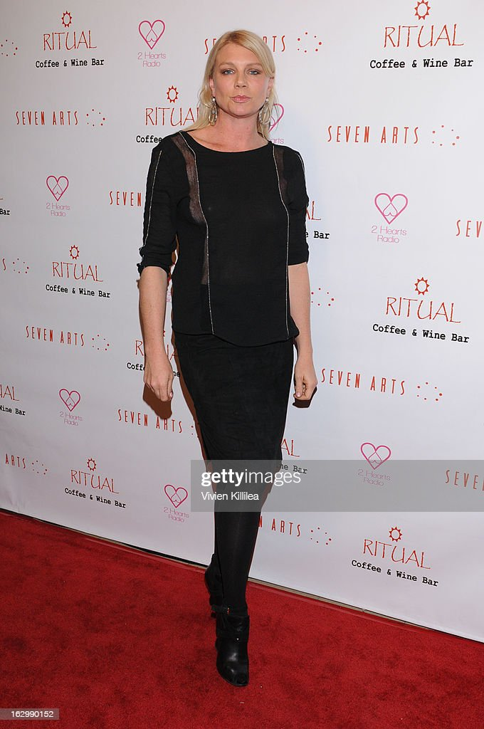 Actress Peta Wilson attends Seven Arts Presents The Grand Opening Of Ritual Cafe And Wine Bar on March 2, 2013 in Los Angeles, California.