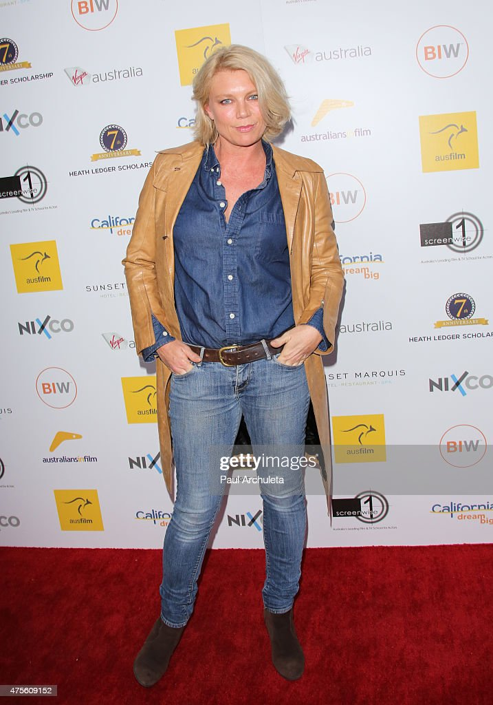 Actress Peta Wilson attends the 'Australians In Film' Heath Ledger scholarship announcement dinner at Sunset Marquis Hotel & Villas on June 1, 2015 in West Hollywood, California.